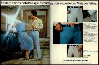 propaganda calças Franco Brasileira; moda masculina anos 70; moda anos 70; propaganda anos 70; história da década de 70; reclames anos 70; brazil in the 70s; Oswaldo Hernandez