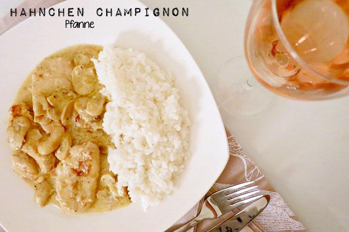 Hähnchen und Champignon Pfanne