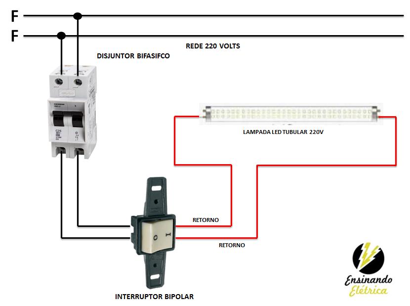 Circuito Tubo Led : Como ligar lampadas tubular de led ensinando elétrica