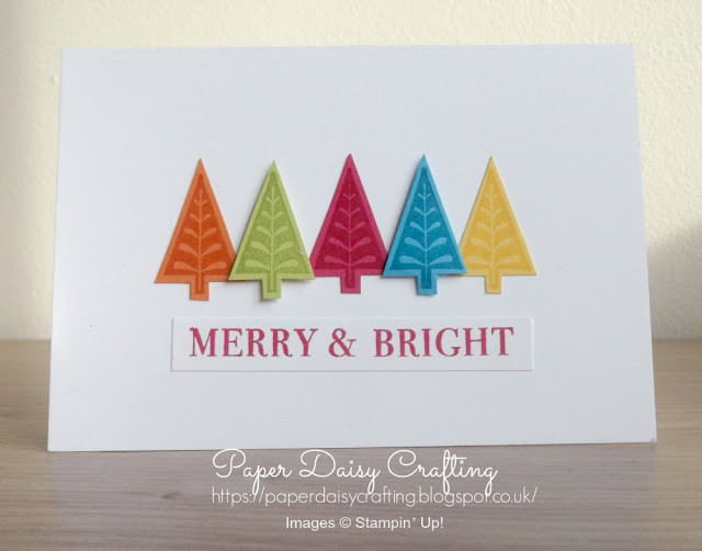 Merry Mistletoe from Stampin' Up! - bright colourful Christmas card