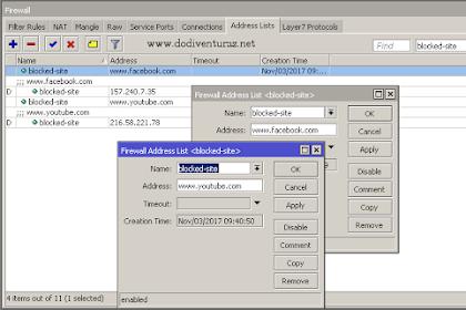 Cara Blok Situs di Router Mikrotik Dengan Address List Berdasarkan Nama Domain