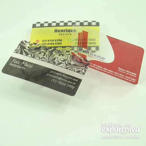 cartoes de visita de pvc transparente - Cartões de Visita