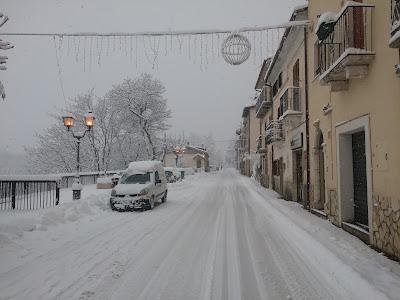 Campo di Giove, Via San Matteo sotto la neve