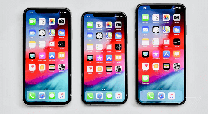 display iphone x, iphone xs, iphone xs max, iphone xr
