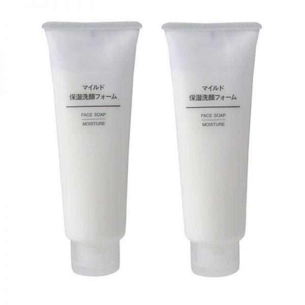 1. Sữa rửa mặt Muji Face Soap Moisture cho da nhạy cảm