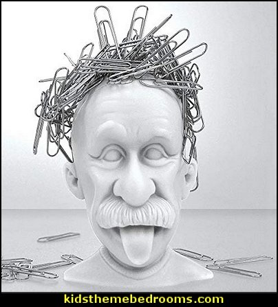 Magnetic Paper Clip Holder, Albert Einstein, Desk Accessory