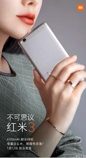 Xiaomi Redmi 3 Akan Hadir dengan Baterai Berdaya Besar 4100mAh