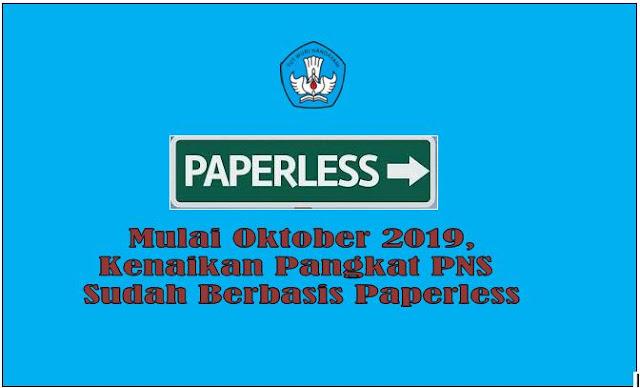 Kenaikan Pangkat Bulan Oktober 2019 Sudah Berbasis Paper Less