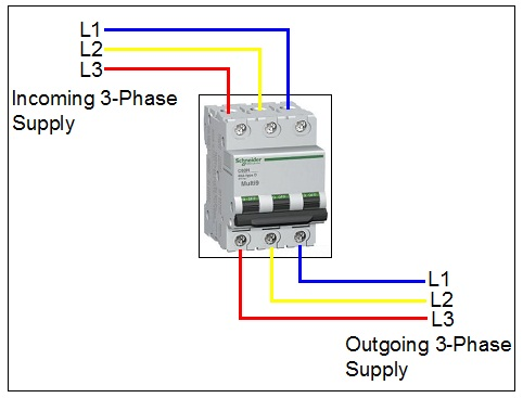 how to wire 3 pole circuit breaker  electrical blog
