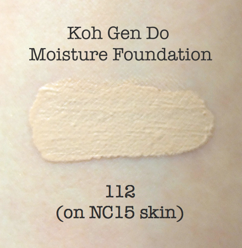 Koh Gen Do Moisture Foundation 112 swatch