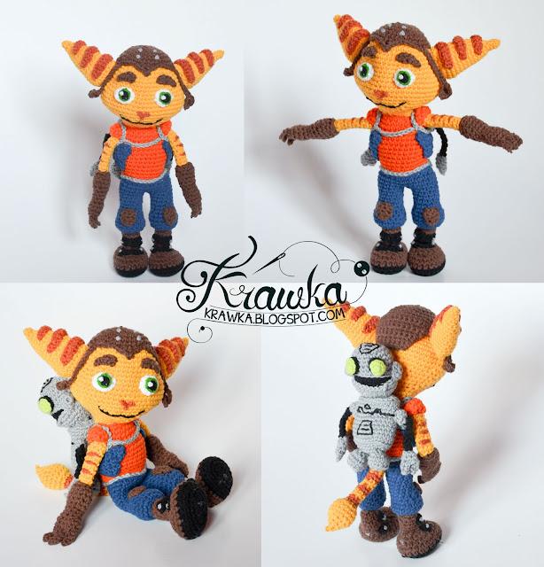 Krawka: Ratchet & Clank crochet pattern by Krawka