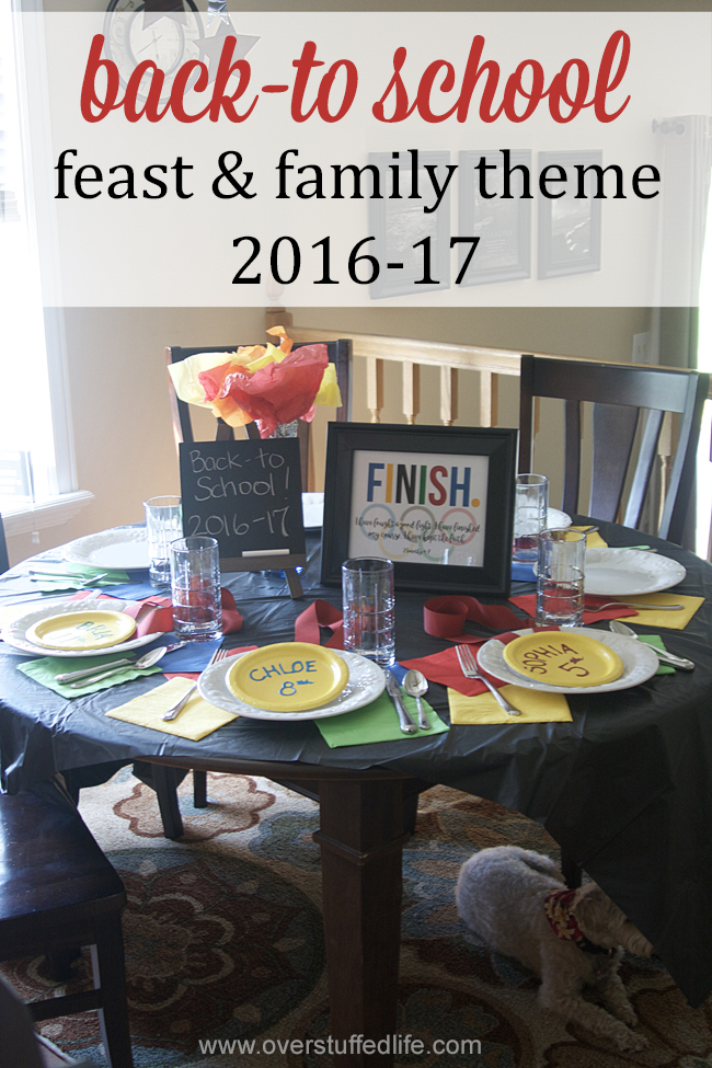 Our back to school feast for the year focuses on finishing with an Olympic flair.