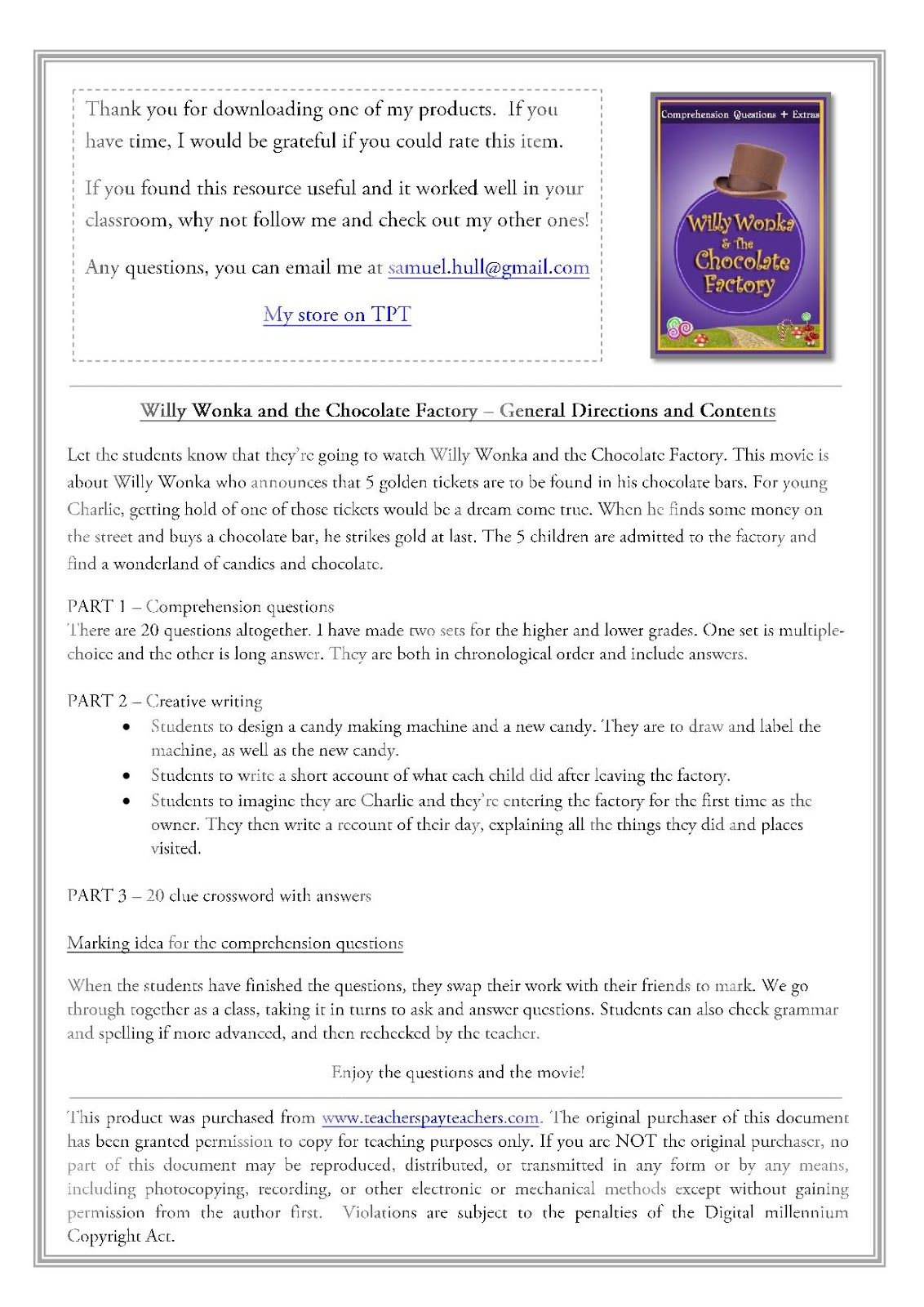 Willy Wonka And The Chocolate Factory Movie Guide