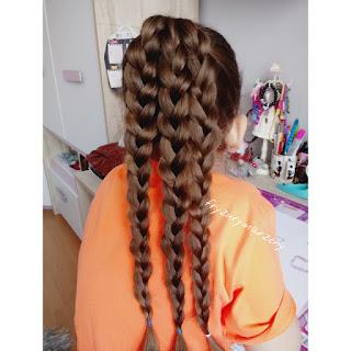 Warkocze ,fryzura na codzień,fryzura dla dziewczynek