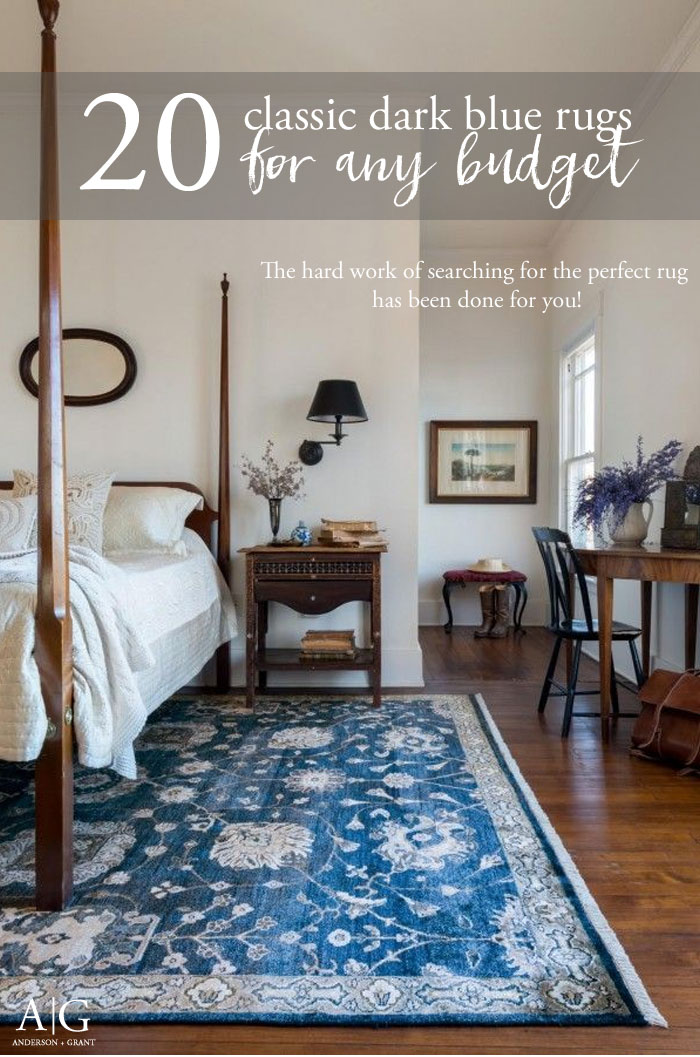 Check out these 20 classic dark blue area rugs for any budget. #arearugs #decorating #homedecor #rugs