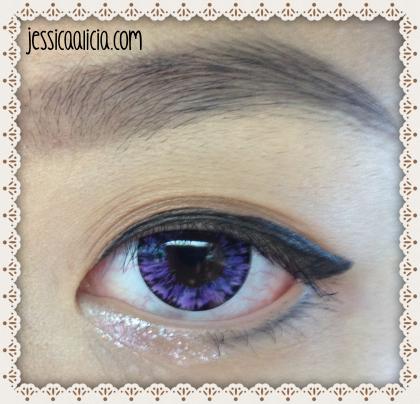 Review : EOS contact lens - Hikaru Violet #223 by Jessica Alicia