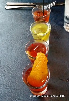 Juliet Restaurant Austin -- Negroni Flight