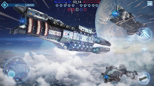 Gameplay Space Armada Game Pesawat Tempur Android