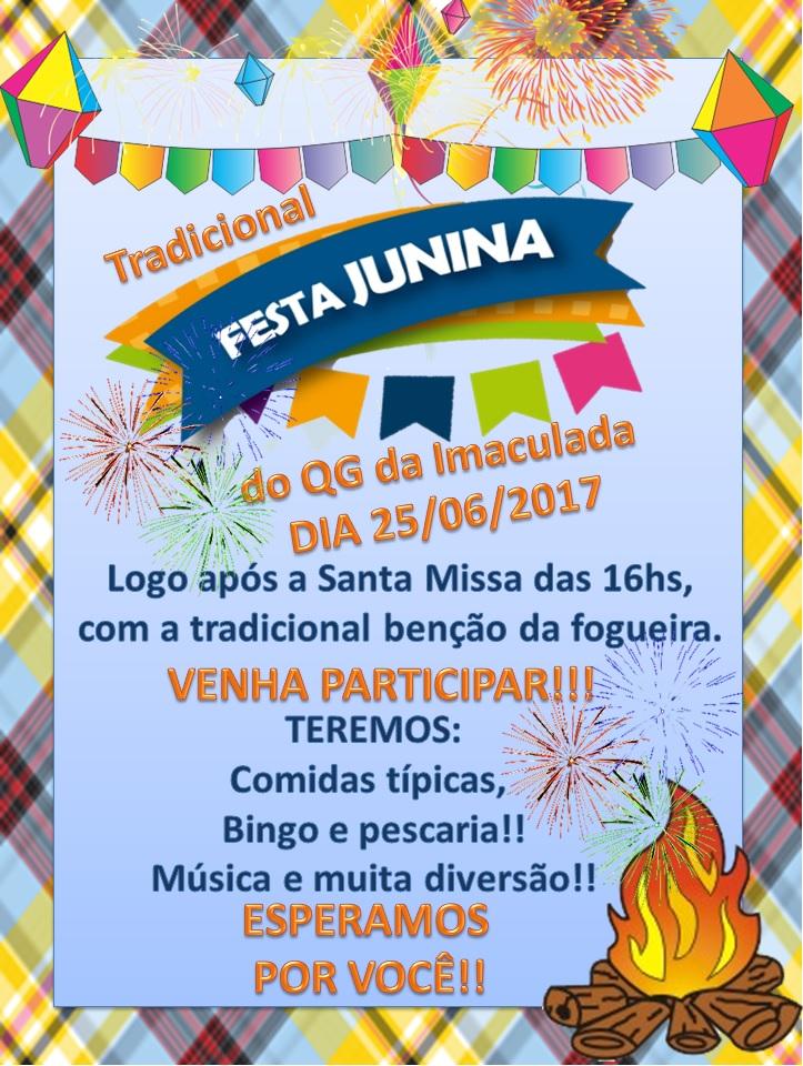 QG da IMACULADA  FESTA JUNINA - 2017 6e3a8a71261