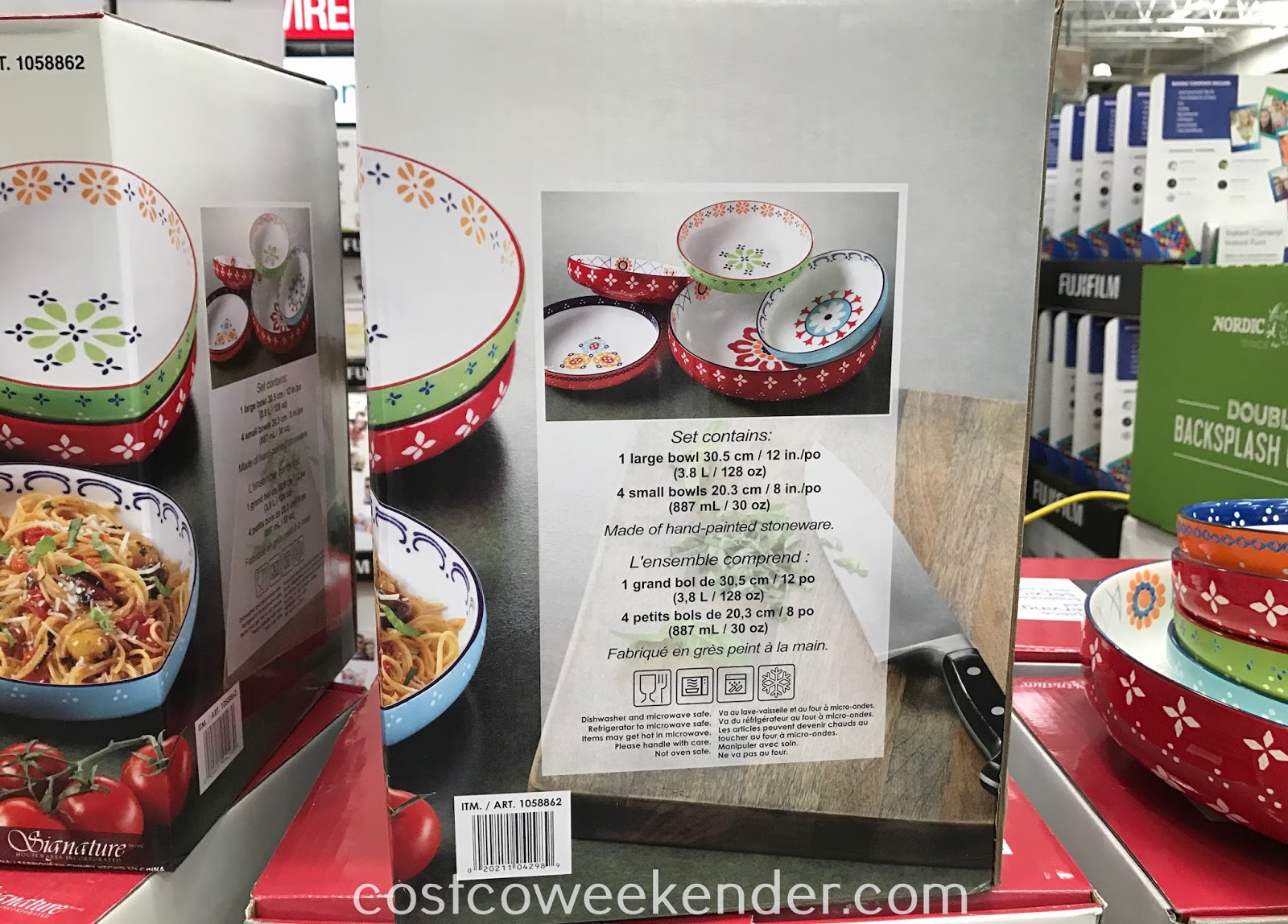 Costco 1058862 - Signature Housewares 5-piece Serving Bowl Set: great for family dinners