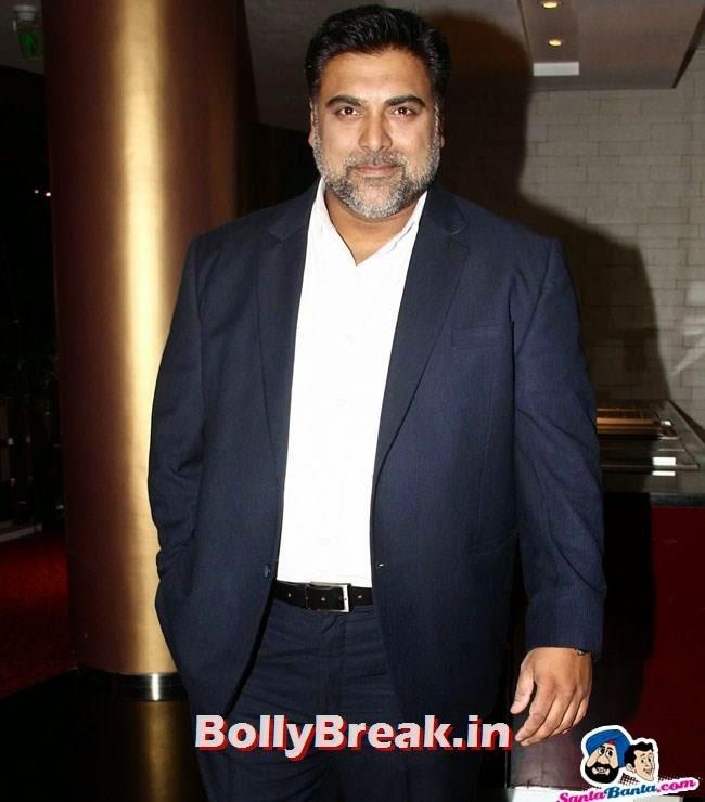 Ram Kapoor, Esha Gupta Pics in Red Dress at Humshakals Success Party