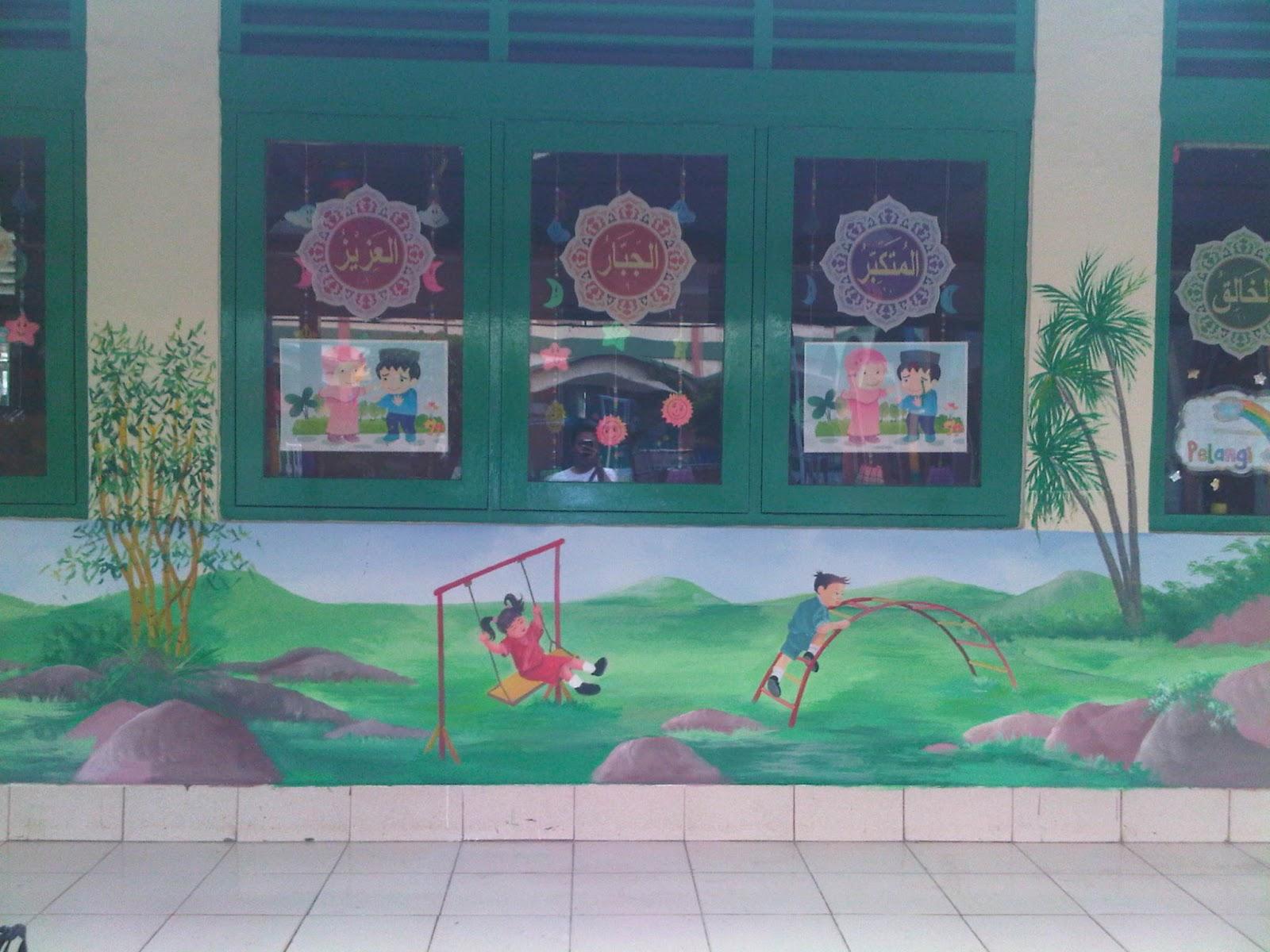 Contoh Lukisan Dinding Sekolah Sabalukisan