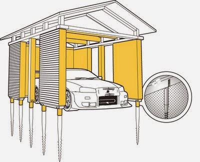 Винтовые сваи для фундамента гаража