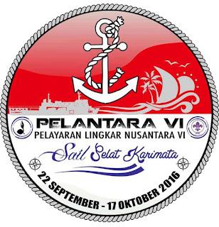 Logo Pelantara VI Sail Karimata 2016