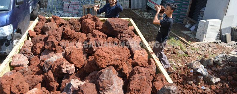 JUAL BATU KARANG MERAH RED VULCANO STONE ROCK