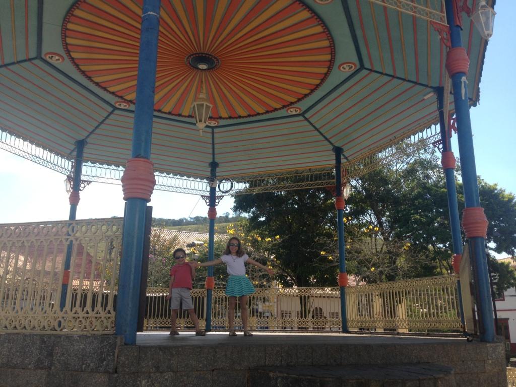 Coreto na praça da matriz em São Luiz do Paraitinga