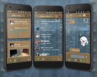 Droid Chat v13.3.13 Jeans Theme Base BBM v3.1.0.13 Apk