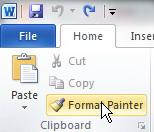 Format Painter Mengatur Paragraf dengan Copy Format