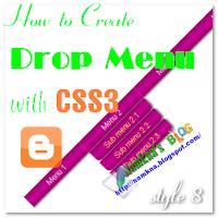 Drop menu with CSS 3