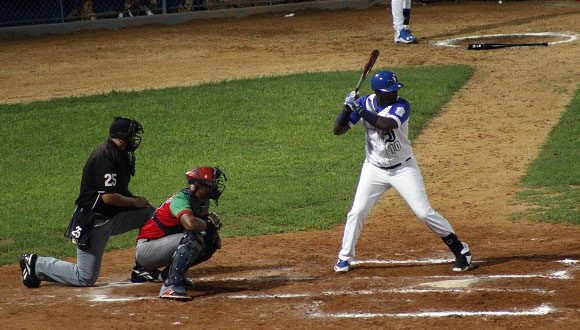 Los bates de los Azules no pudieron hacer nada frente al pitcheo de los Leñadores Foto: José Raúl Concepción