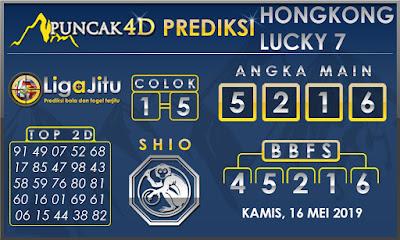 PREDIKSI TOGEL HONGKONG LUCKY7 PUNCAK4D 16 MEI 2019