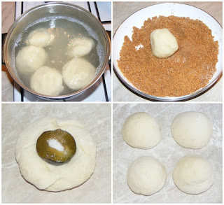 preparare gomboti cu prune, cum facem galuste cu prune, preparare galuste invelite in aluat din faina gris si cartofi, retete culinare,