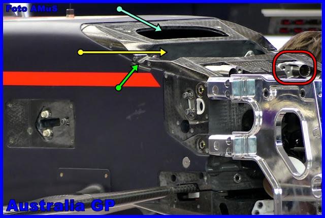 Immagine 1 - La parte alta anteriore del telaio della RedBull RB13