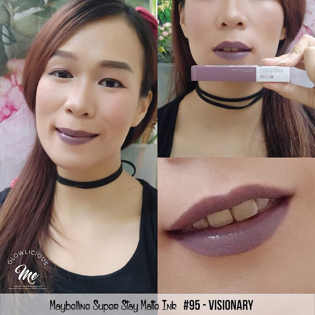 Maybelline Super Stay Matte Ink #95 visionary  - REVIEW LIPSTICK MAYBELLINE SUPER TAHAN LAMA 2