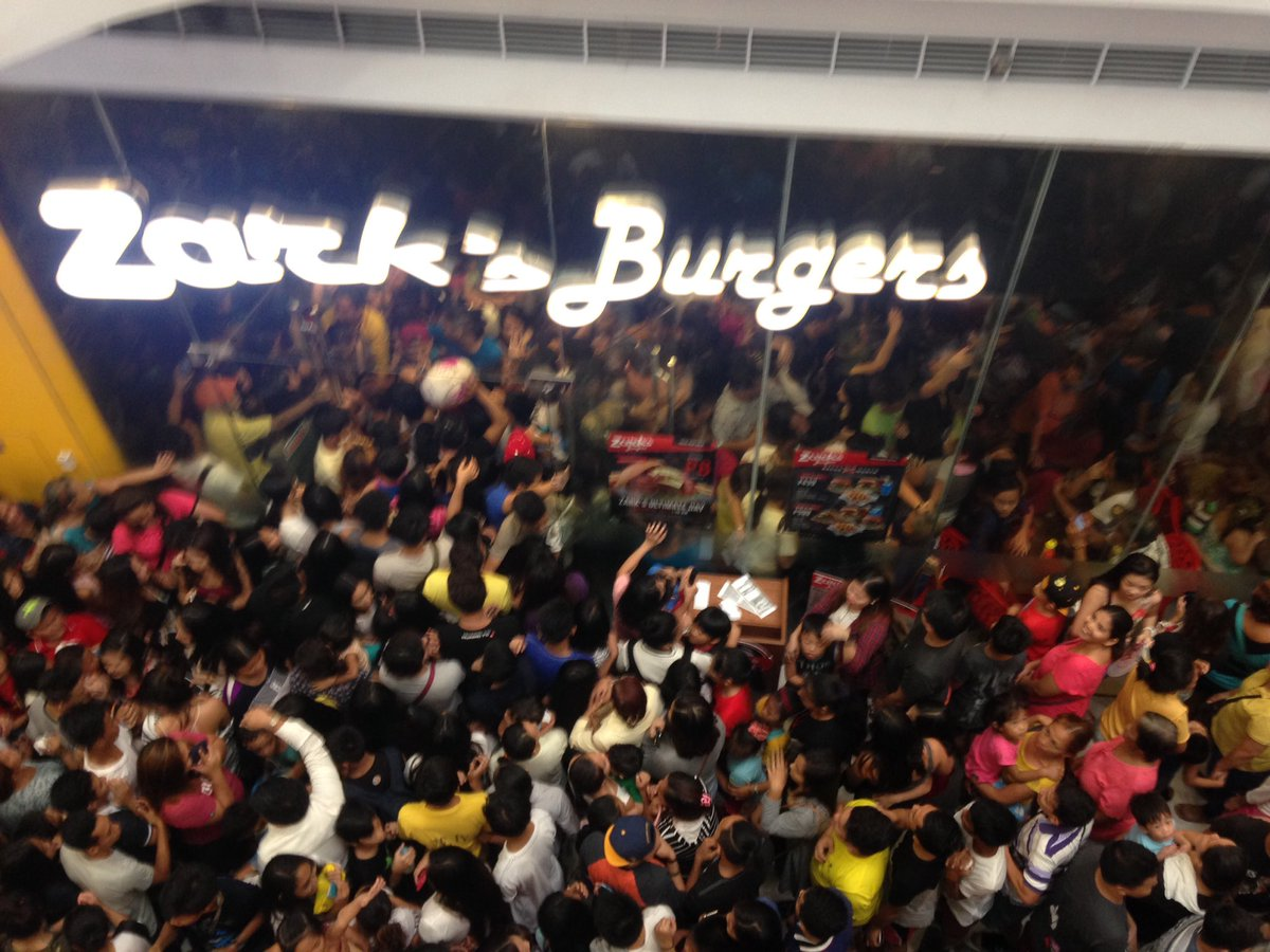 Zark's Burgers P8 promo causes chaos, stampede in malls