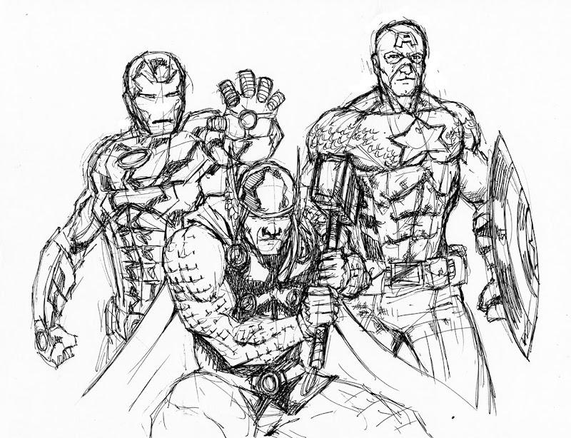 Avengers ausmalbilder zum drucken - Ausmalbilder