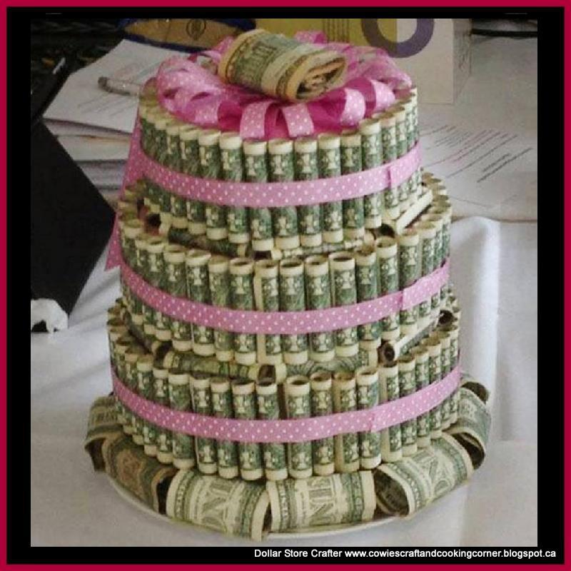 how to make money making wedding cakes dollar crafter graduation money cake birthday or 15974