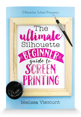 Silhouette cameo, silhouette screen printing, silhouette silkscreen, screenprinting with vinyl, screen print vinyl silhouette