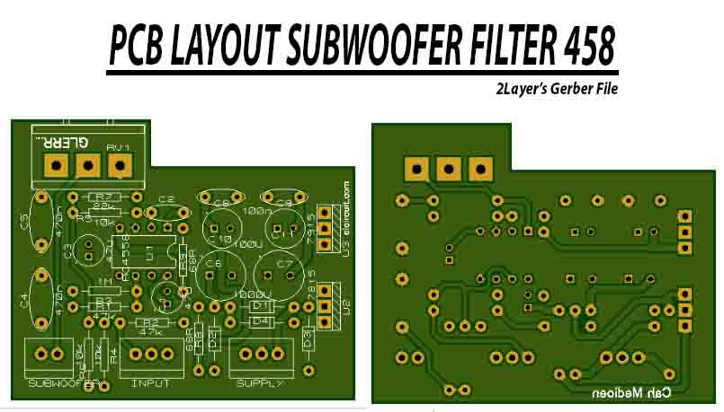 Subwoofer Filter 4558 complete Regulated Power Supply