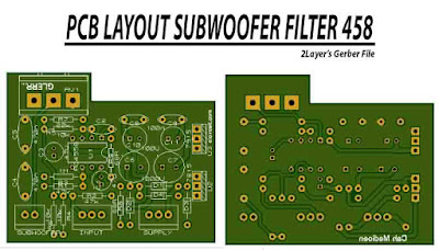 PCB Layout Design Subwoofer Filter 4558 in two layers