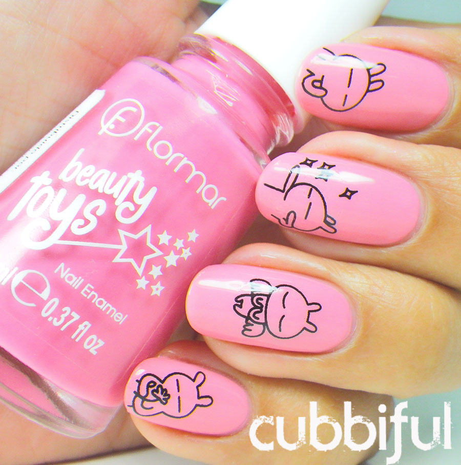 pink kawaii nails