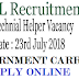 Government jobs for 10th passed 2018-Technical helper recruitment, Apply online, Last date of form submission 23rd july, 2018