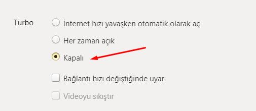 Yandex Browser Turbo Mod Kapatma Nasıl Yapılır?