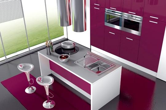 le rose en cuisine id e d co. Black Bedroom Furniture Sets. Home Design Ideas