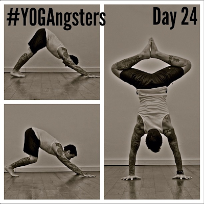 ॐ yogasanity  yogangsters challenge day 24 ॐ handstand
