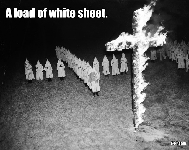 A load of white sheet funny pun joke picture
